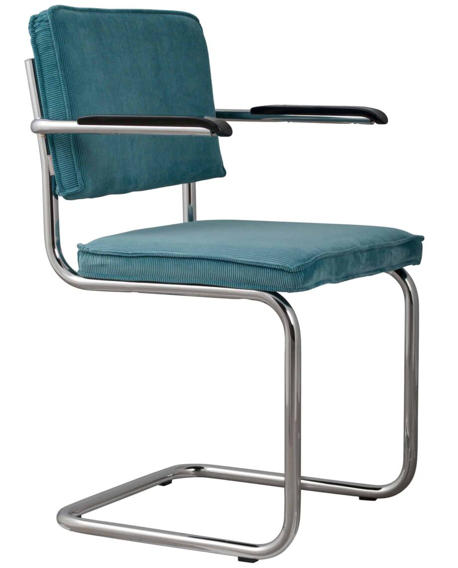 Ridge Rib fauteuil Zuiver turquoise