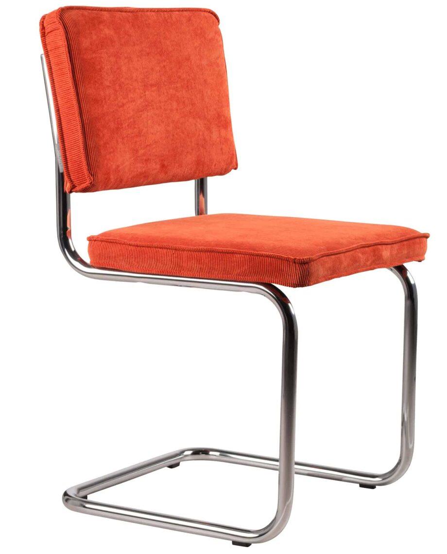 Ridge Rib stoel Zuiver orange rood