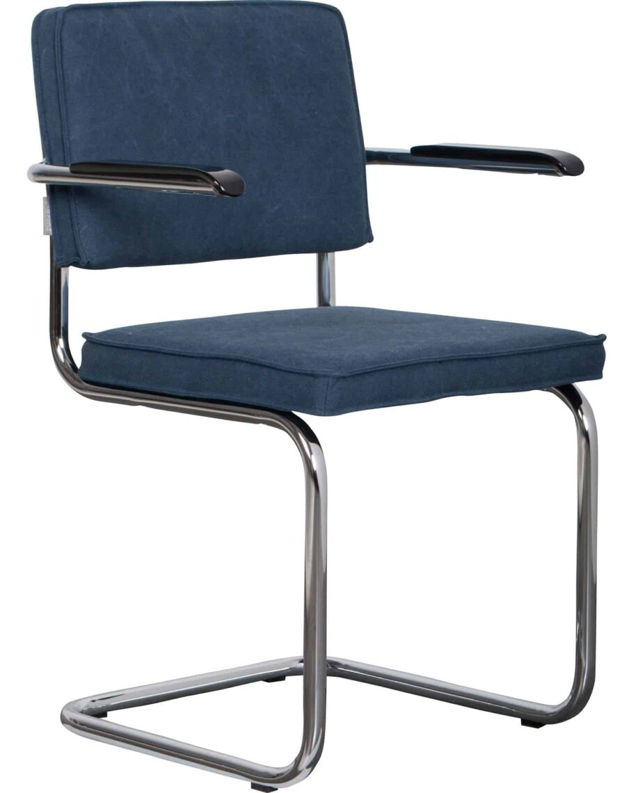 Ridge Vintage fauteuil Zuiver blauw