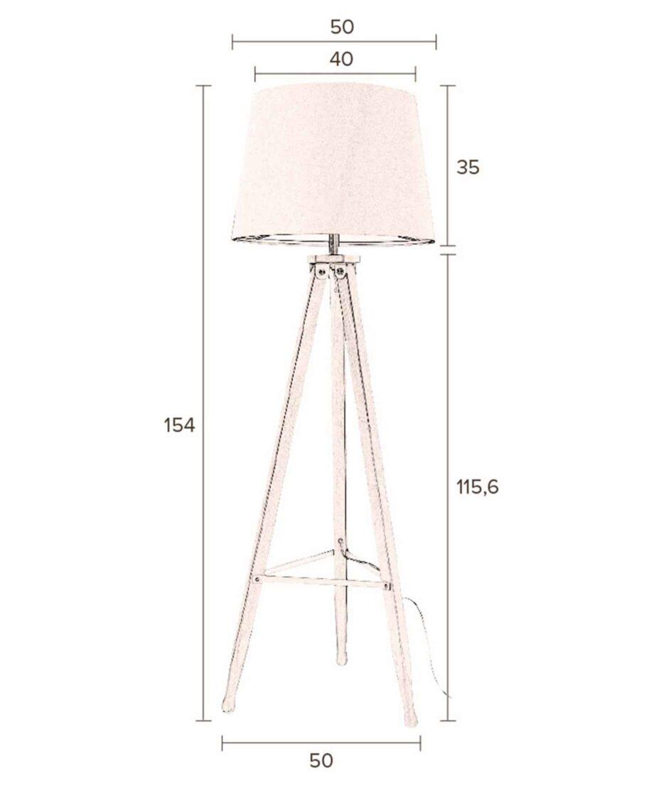 Rif vloerlamp Dutchbone afmetingen