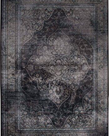 Rugged tapijt Dutchbone donkergrijs