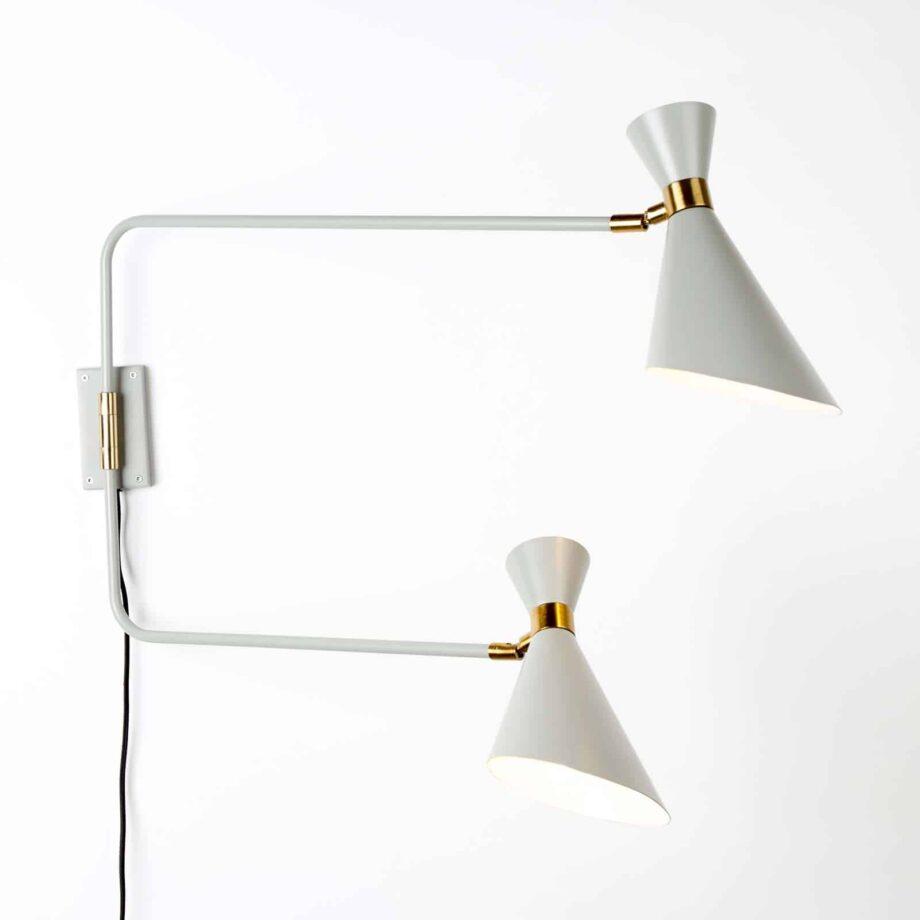 Shady Double wandlamp Zuiver grijs