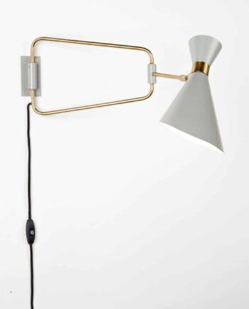 Shady wall lamp Zuiver grey