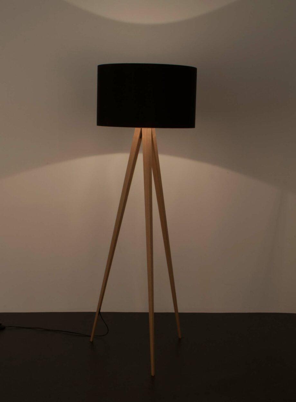Tripod Wood vloerlamp Zuiver zwart