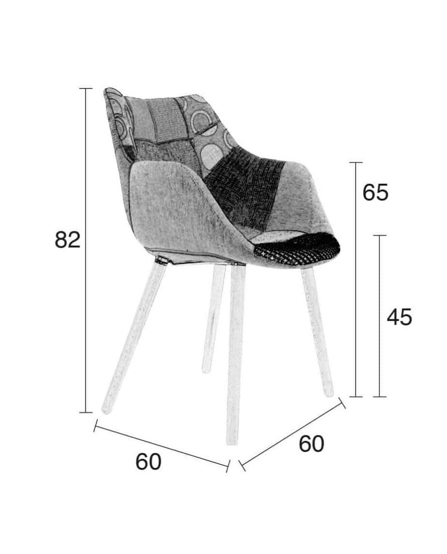 Twelve fauteuil Zuiver afmetingen