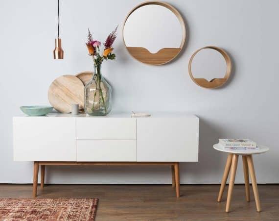 Zuiver Leaning Spiegel : Round spiegel by zuiver designshopp