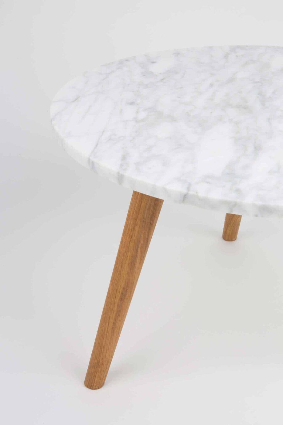 White Stone marmer bijzettafel Zuiver large