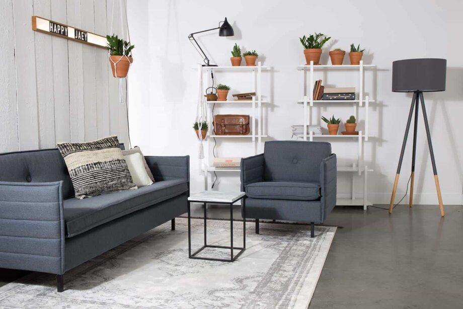 Jaey sofa 2,5 Zuiver grijsblauw