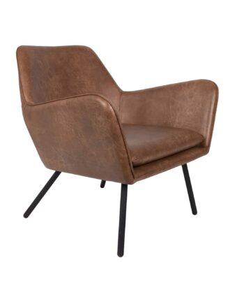 Bon loungestoel bruin Designshopp 1