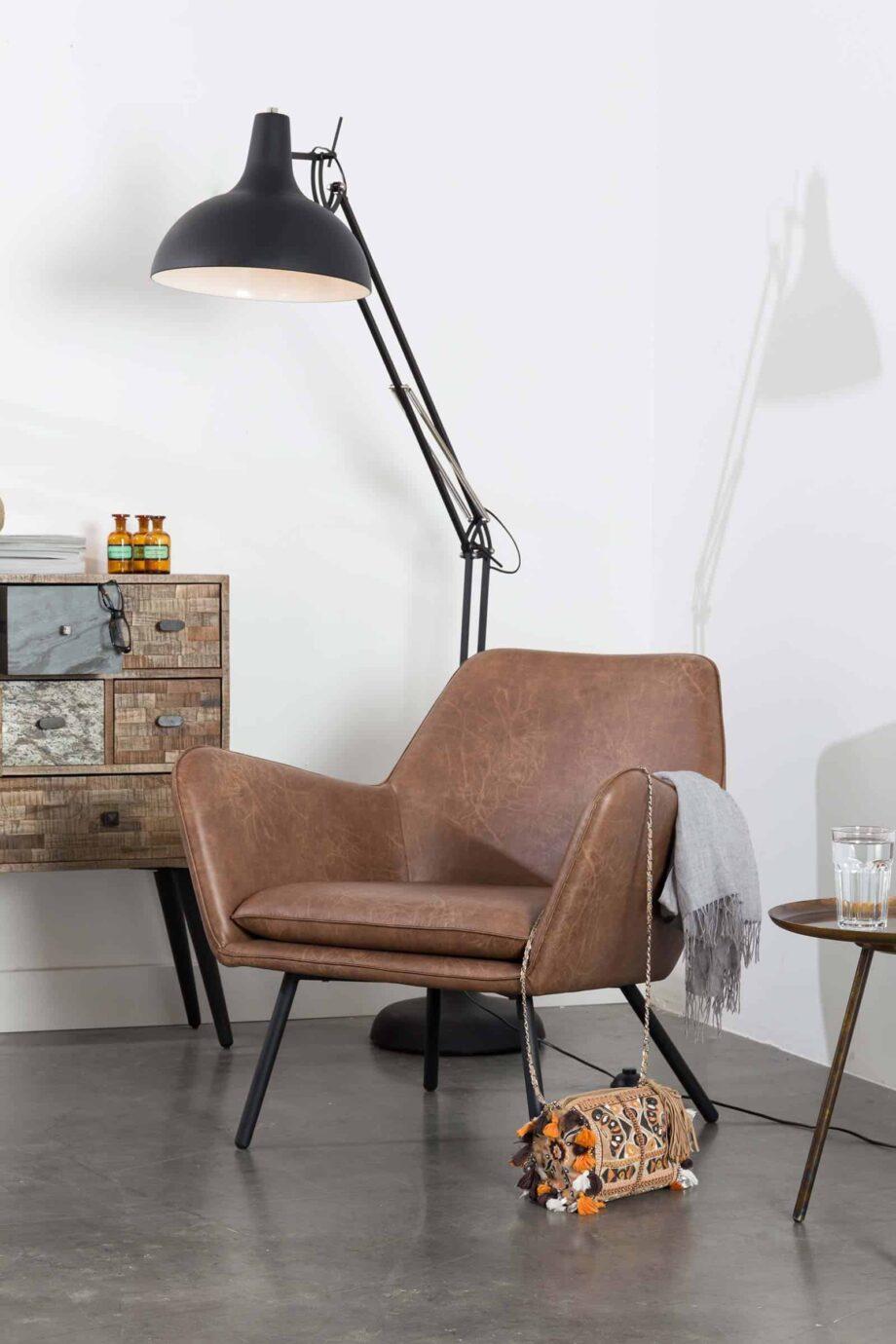 Bon loungestoel bruin Designshopp 10