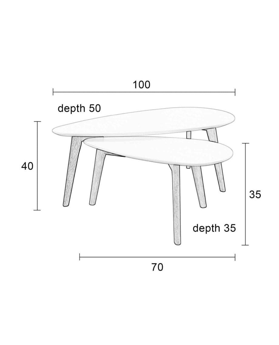 Drop set bijzettafels Designshopp 12