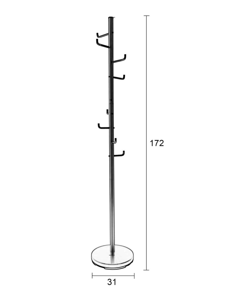 Hooked kleerhanger satijn nikkel Designshopp 6