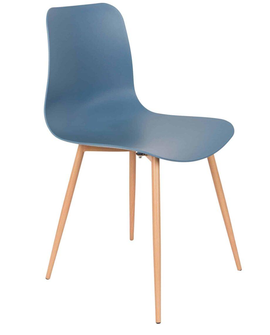 Leon stoel blauw Designshopp 1