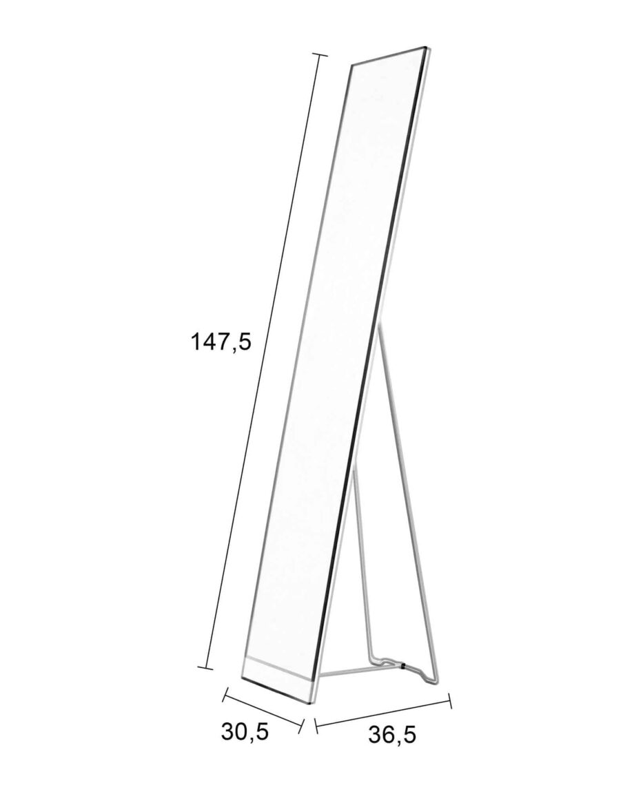 Stand spiegel wit Designshopp 3
