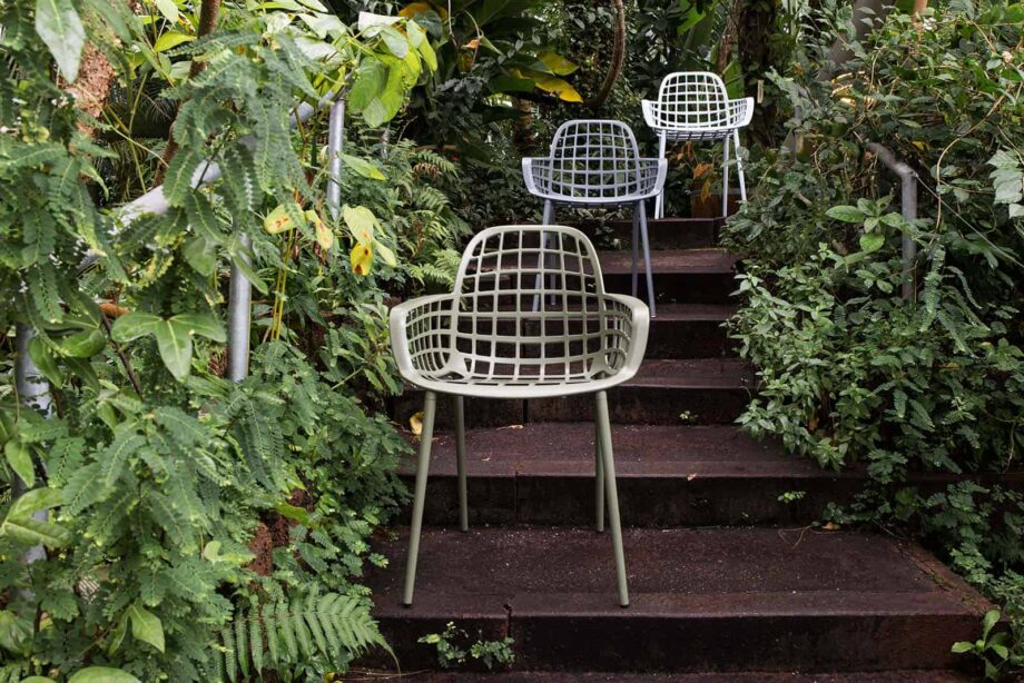 Albert Kuip garden chair grey 11