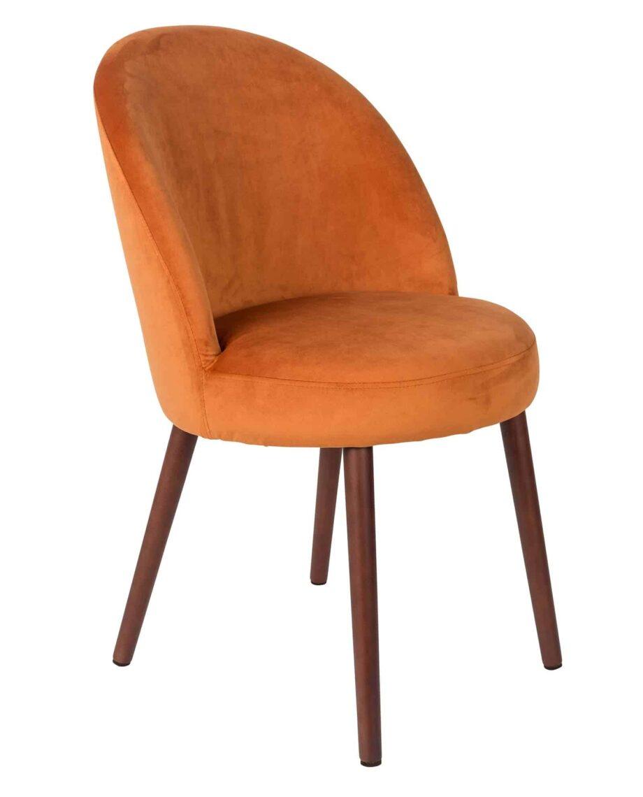 Barbara stoel Dutchbone oranje 1
