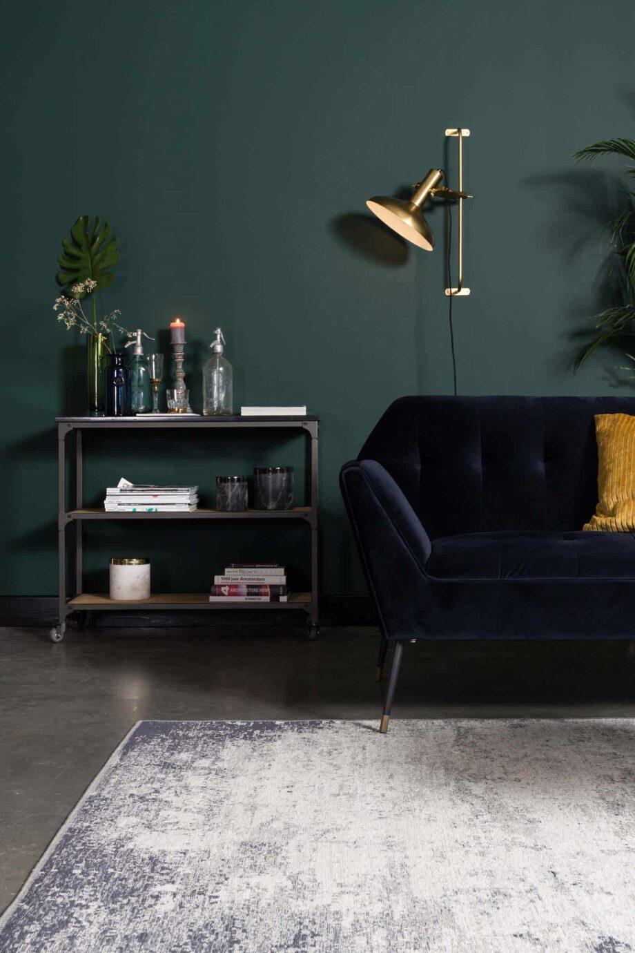 Caruso tapijt Dutchbone blauw 7