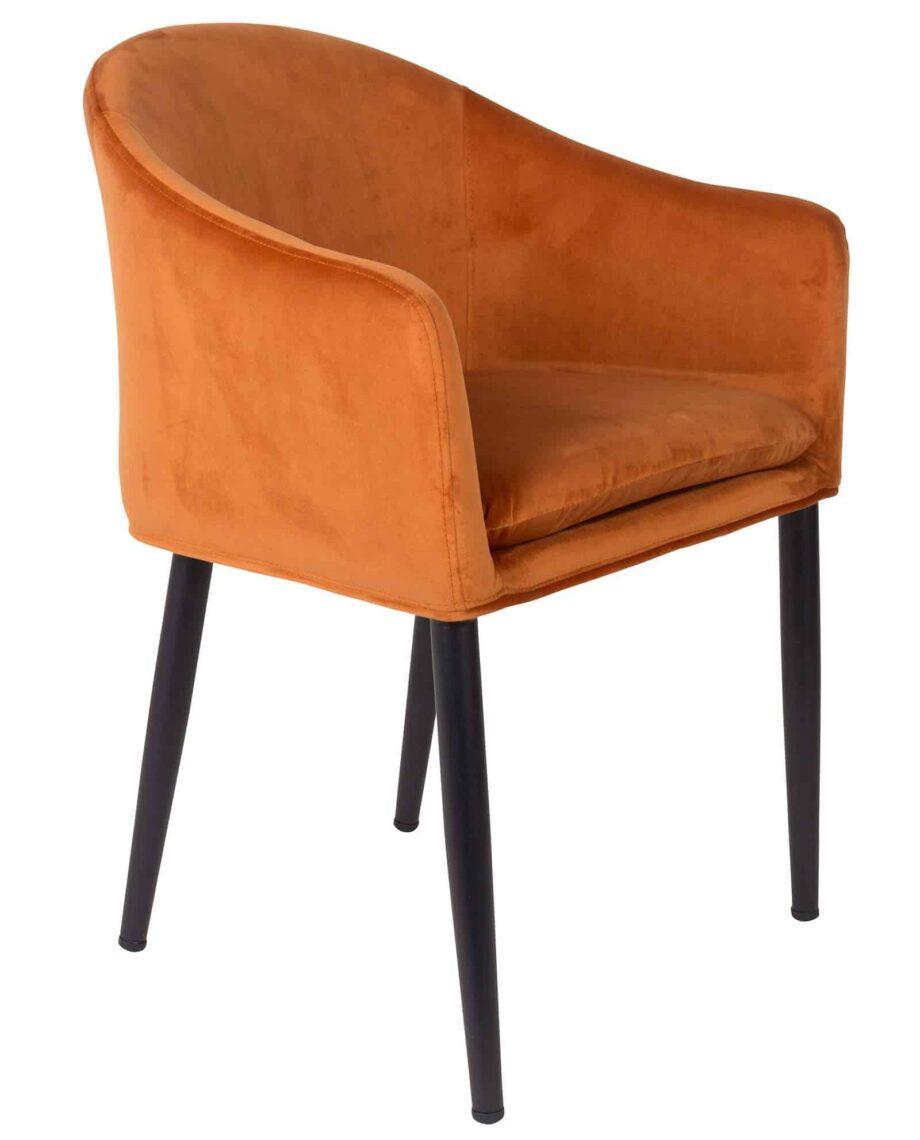 Catelyn fauteuil Designshopp oranje 1