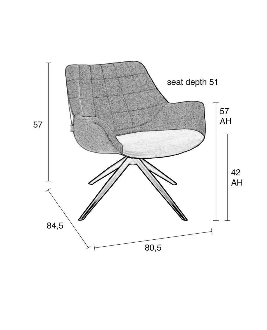 Doulton loungestoel Zuiver 12