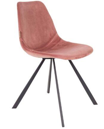 Franky Velvet stoel Dutchbone roze 1