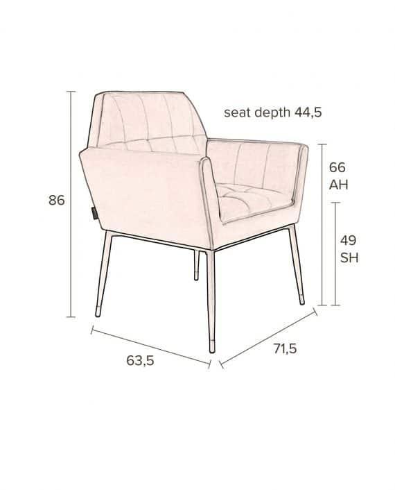 Kate fauteuil Dutchbone roze 11
