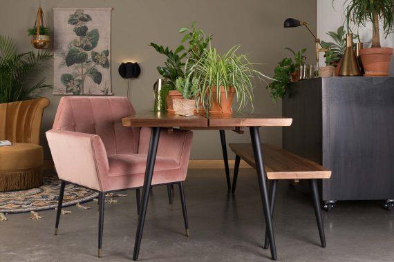 Kate fauteuil Dutchbone roze 9