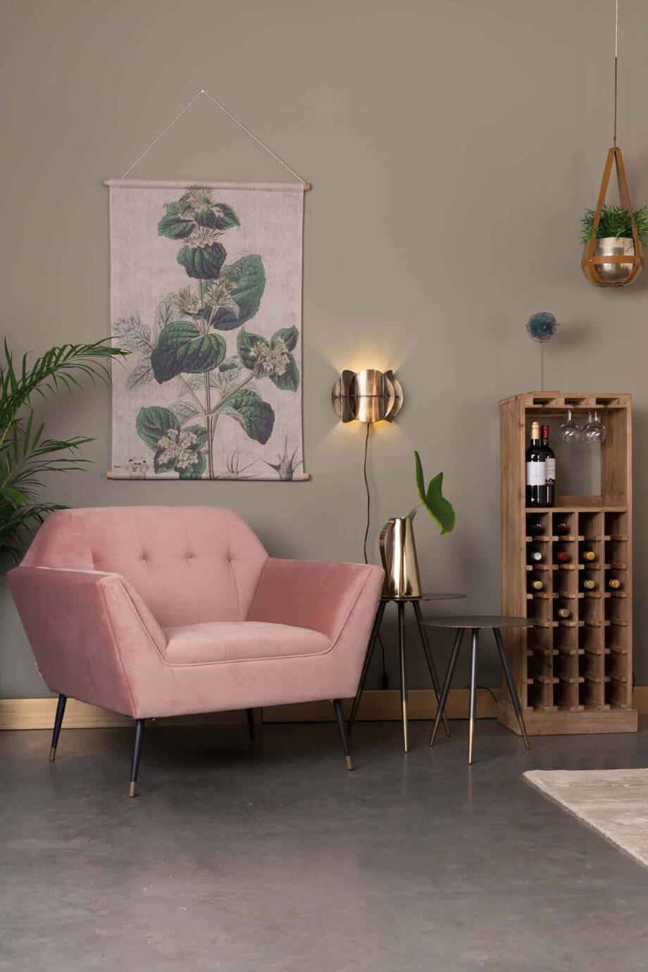 Kate loungestoel Dutchbone roze 10