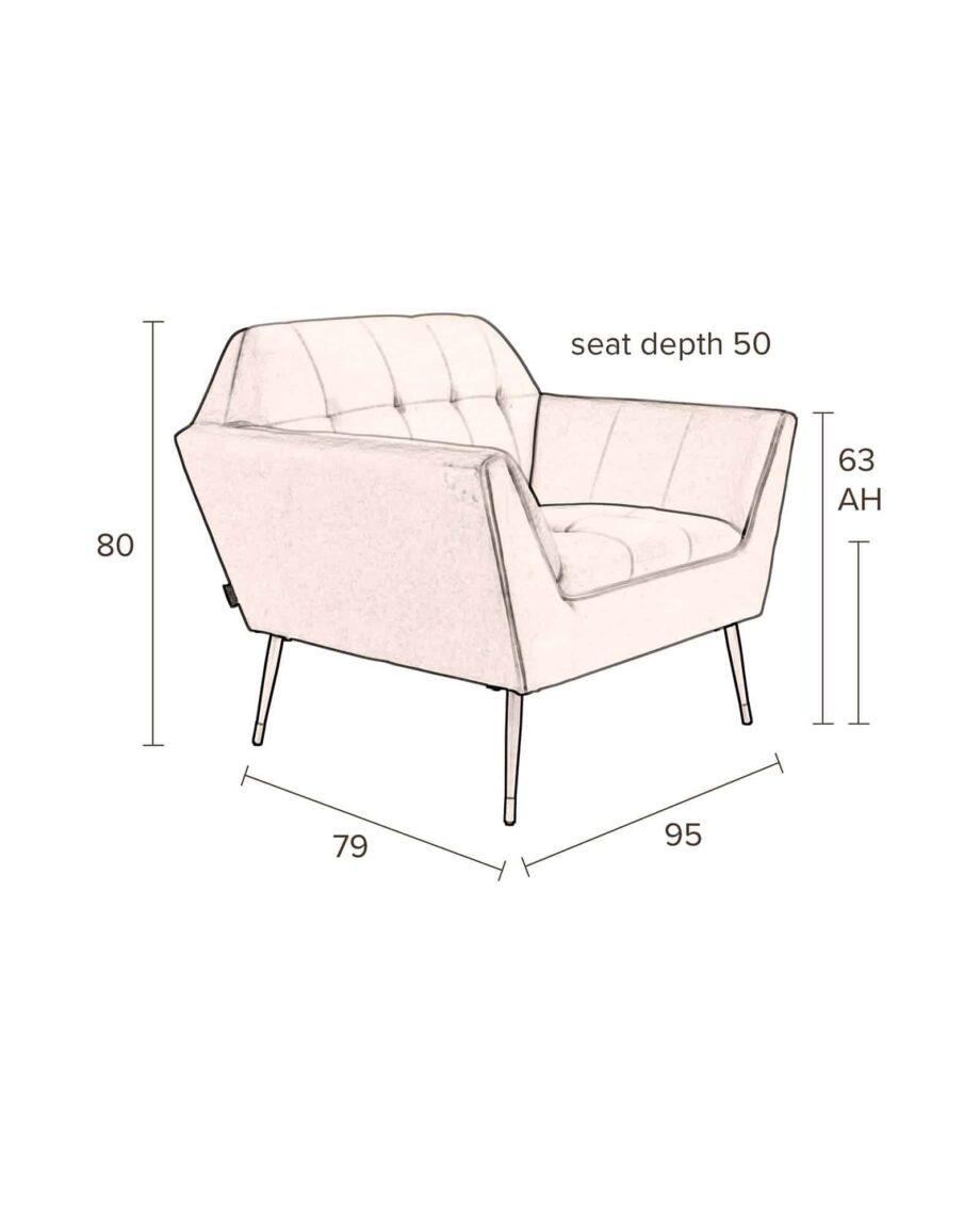 Kate loungestoel Dutchbone roze 11