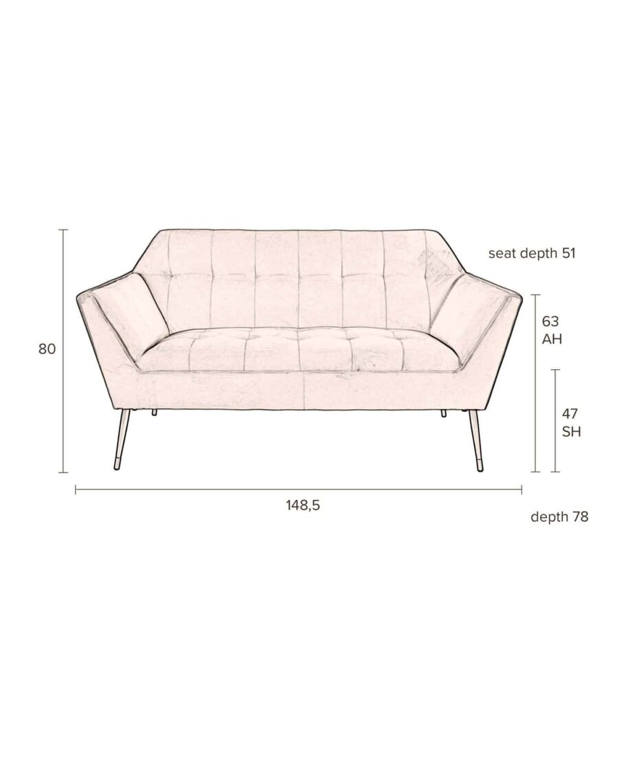 Kate sofa Dutchbone roze 11