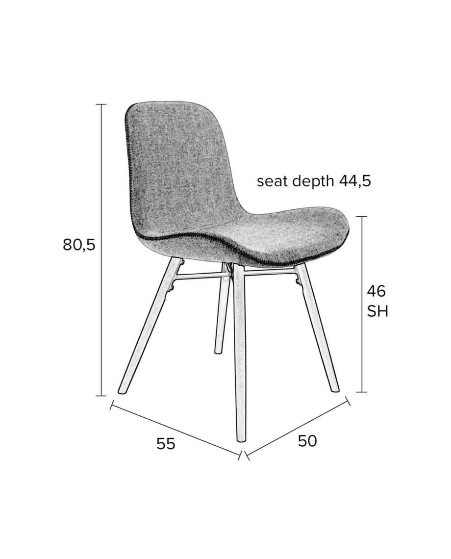 Lester stoel Designshopp lichtgrijs 11
