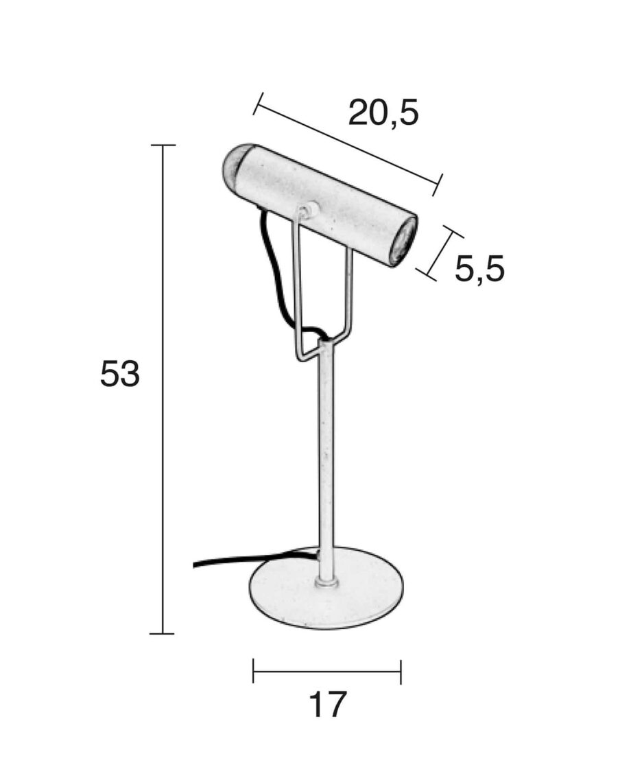 Marlon tafellamp Zuiver zwart 9