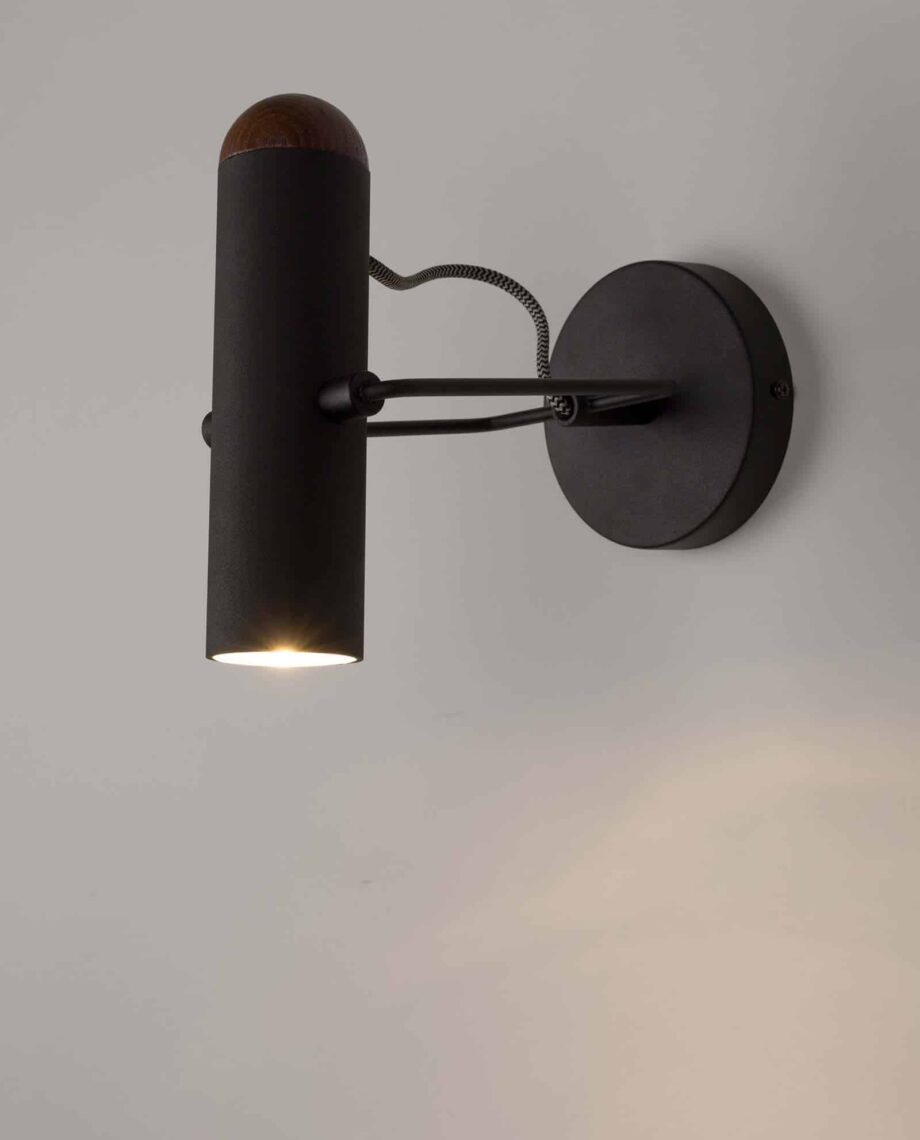Marlon wandlamp Zuiver zwart 2