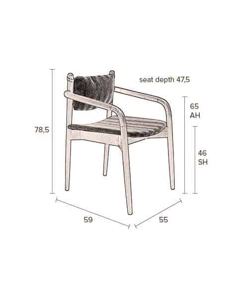Torrance fauteuil Dutchbone 11