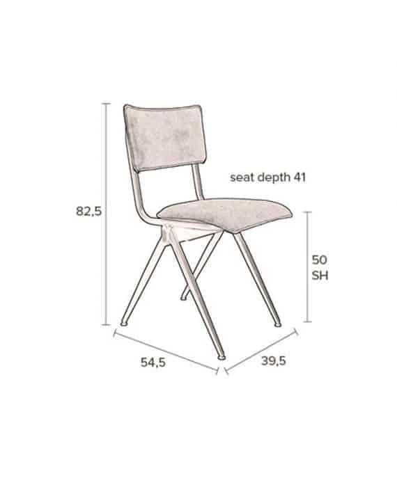 Willow stoel Dutchbone grijs 11